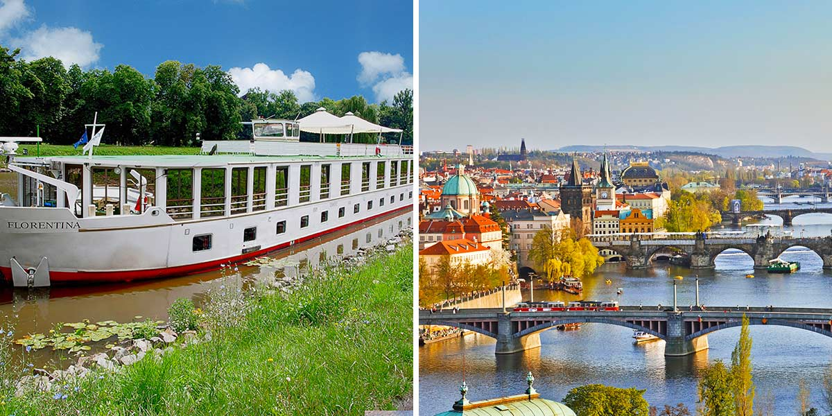 Vltava and Elbe River Cycling Boat holiday