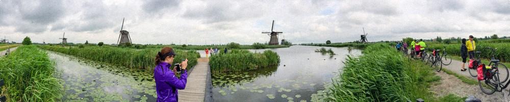 Kinderdijk Holland, Panorama with windmills