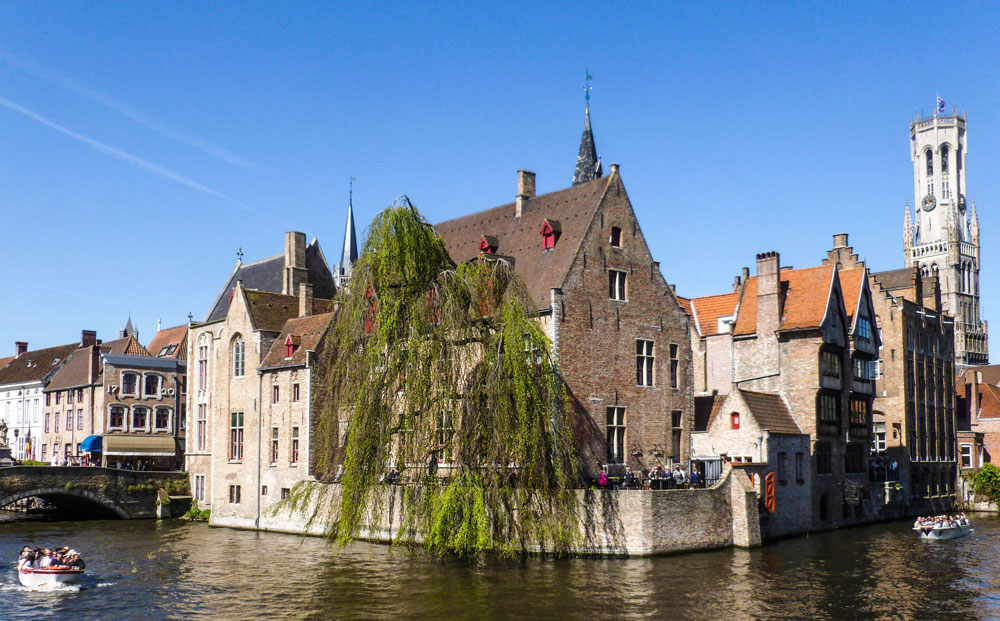 The iconic canals of Bruges