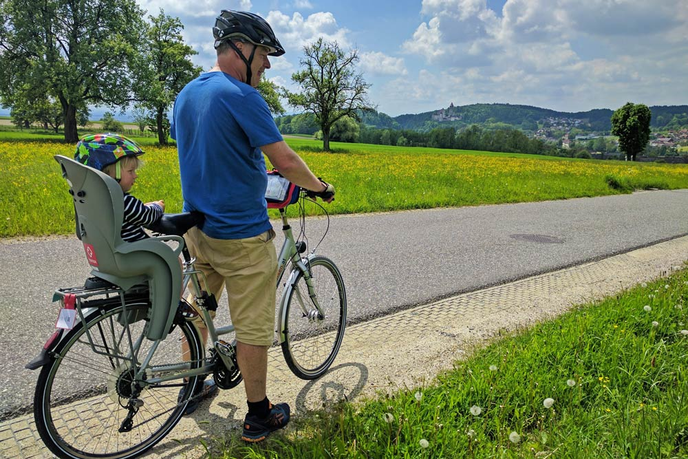 Family on Danube Cycle Path