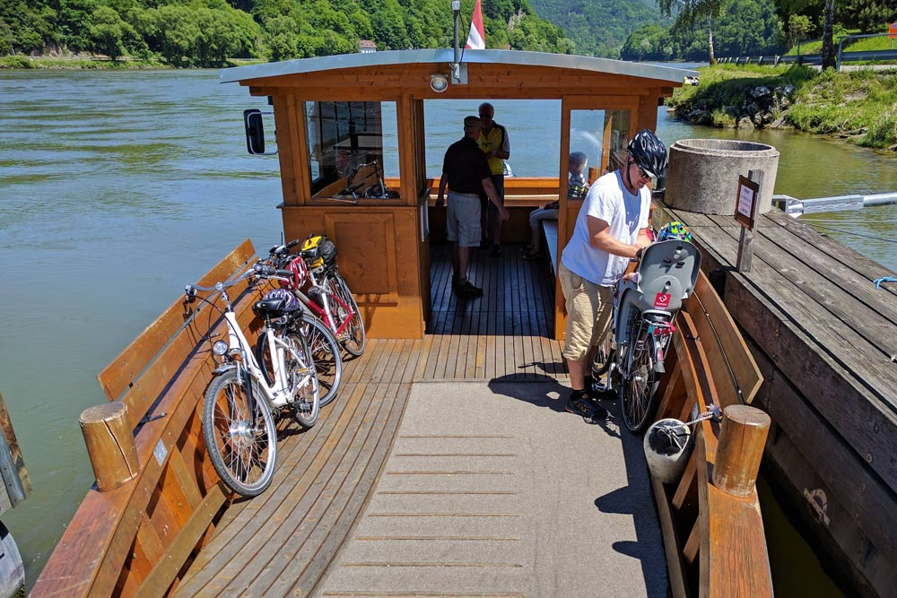 Ferry on the River Danube