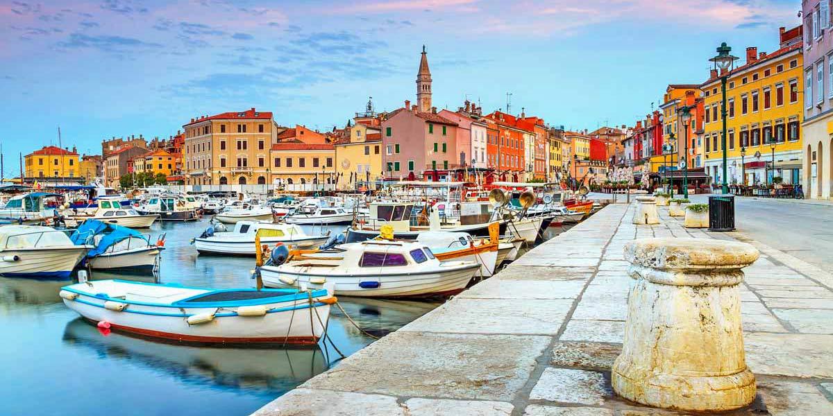 Rovinj harbour in Croatia