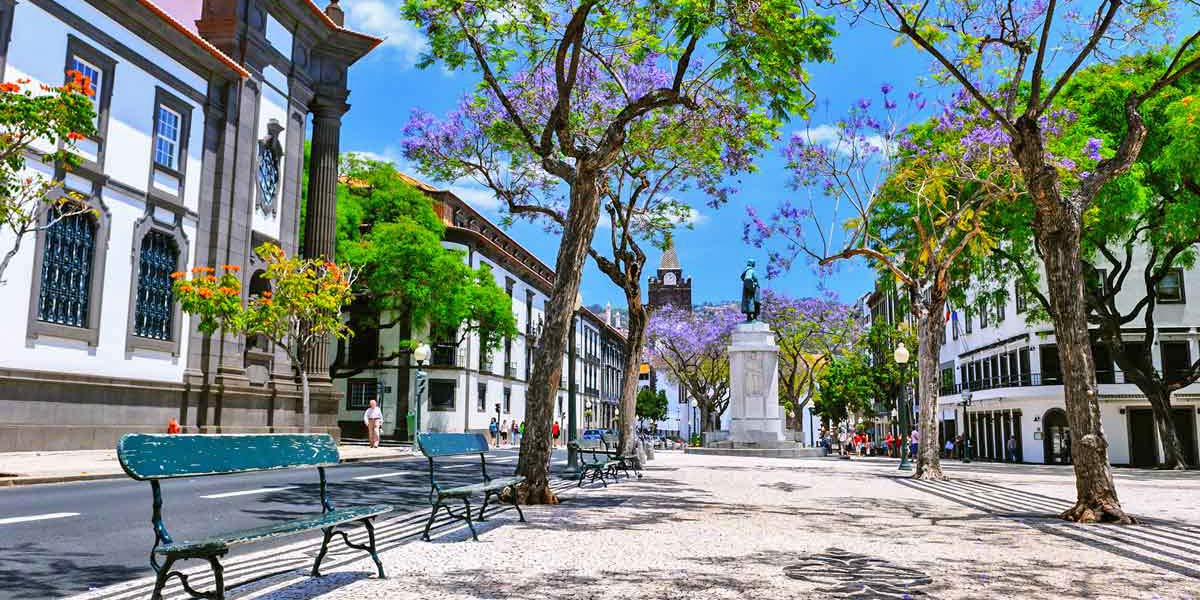 Funchal square in Madeira