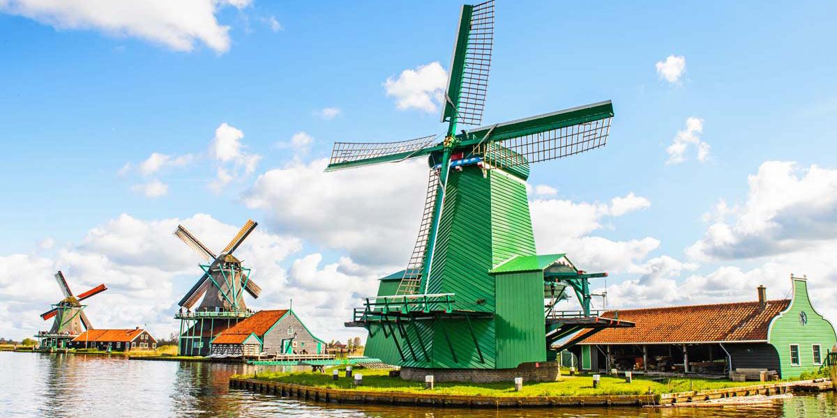 Windmills at Zaanse Schans, Holland
