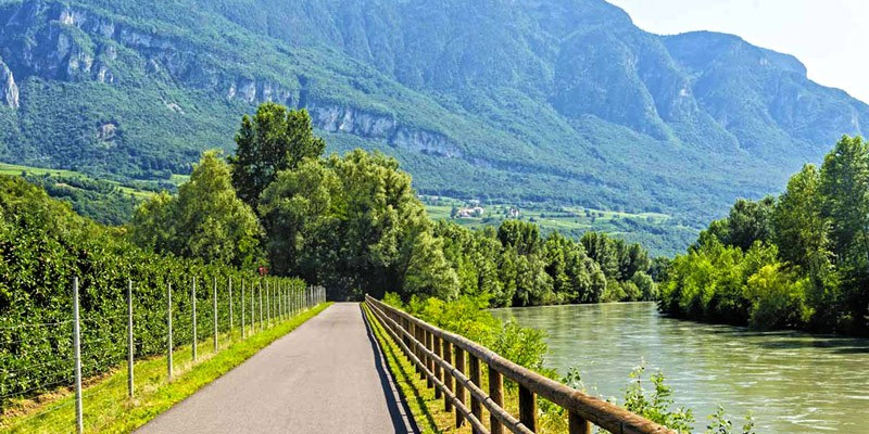 Adige river cycle path, Italy