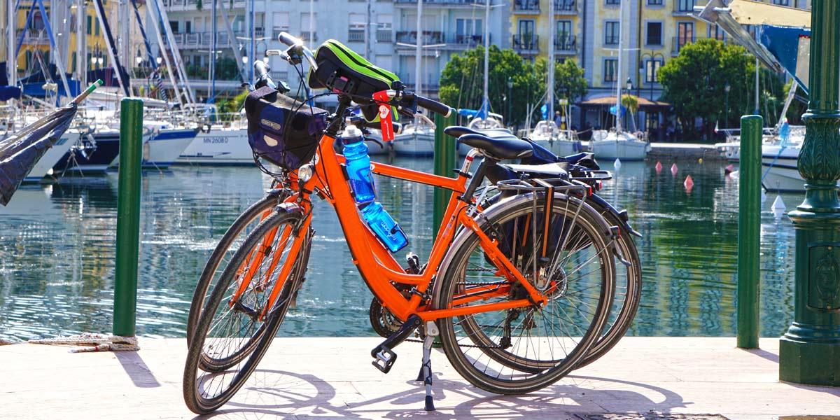 Bikes in Grado, Italy