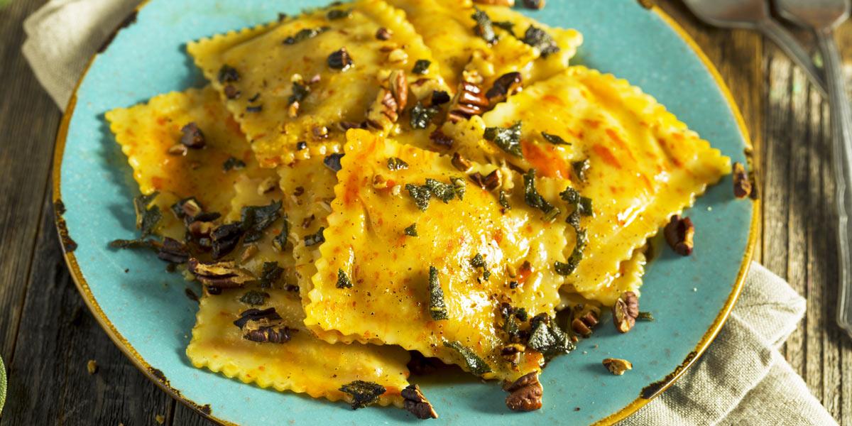 Tortelli di zucca pasta