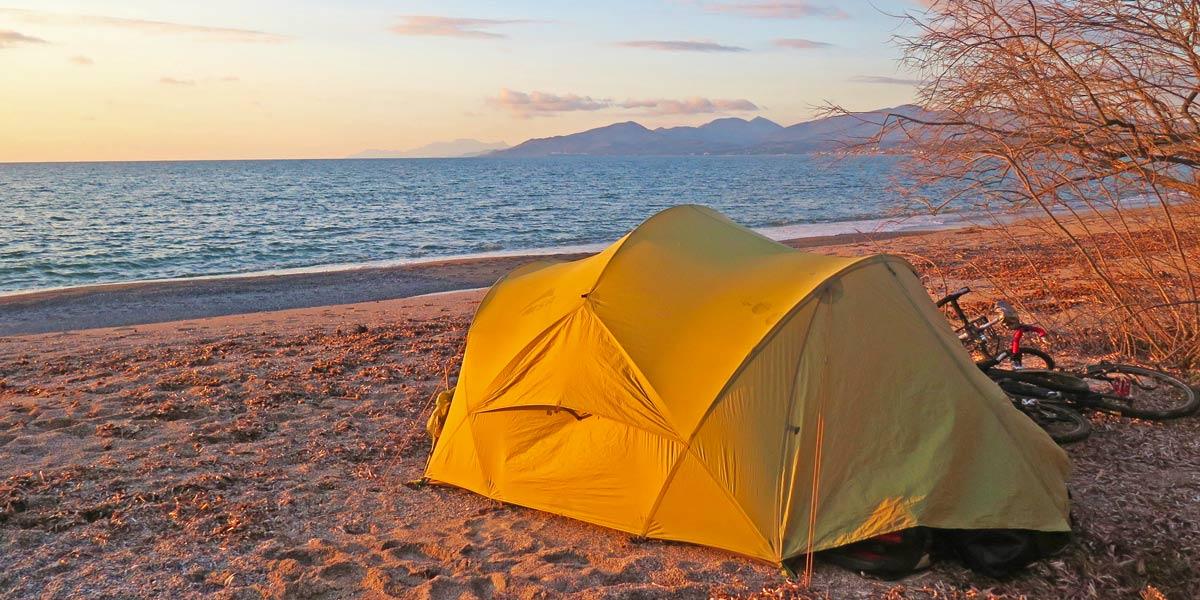 Camping on Croatian beach