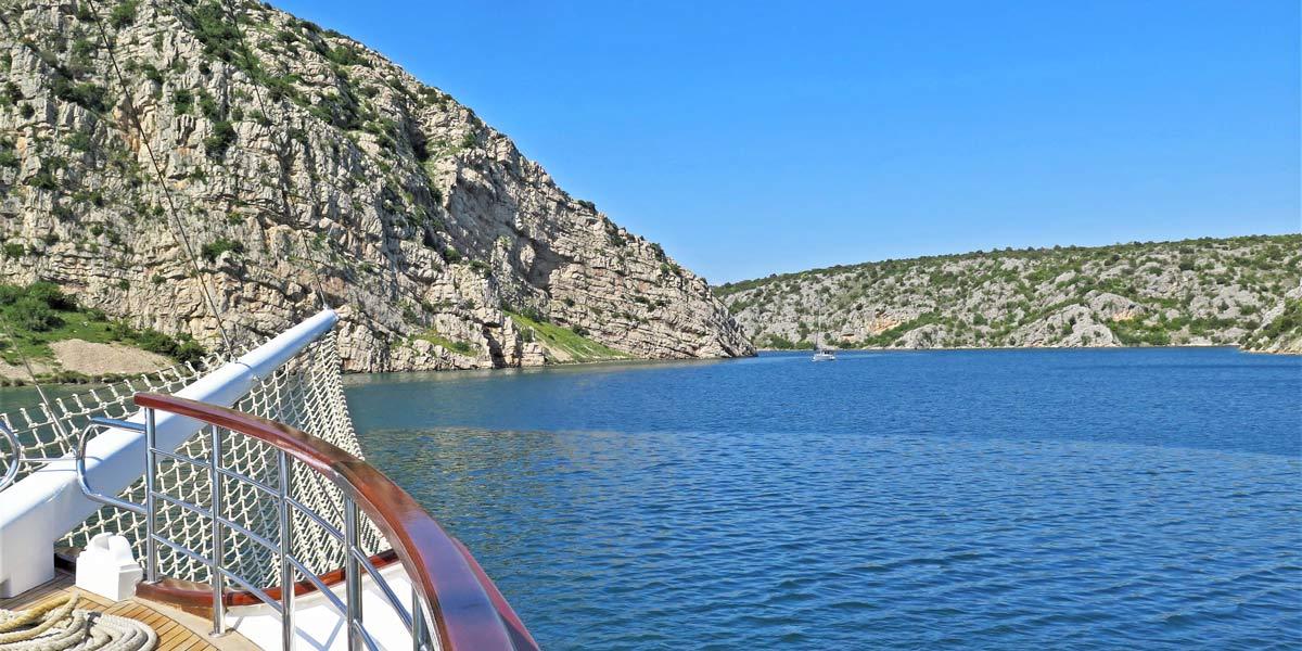 Sailing towards Skradin
