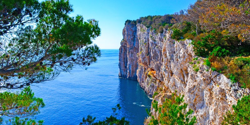Cliffs of Telascica nature park
