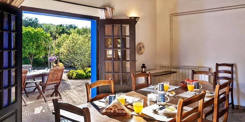Dining area in the Alentejo farmhouse, Portugal