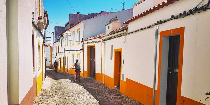 Portugal village cycling
