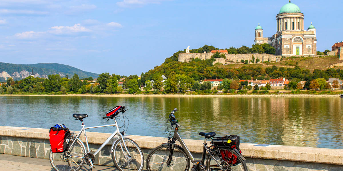 Cycling by the Danube River