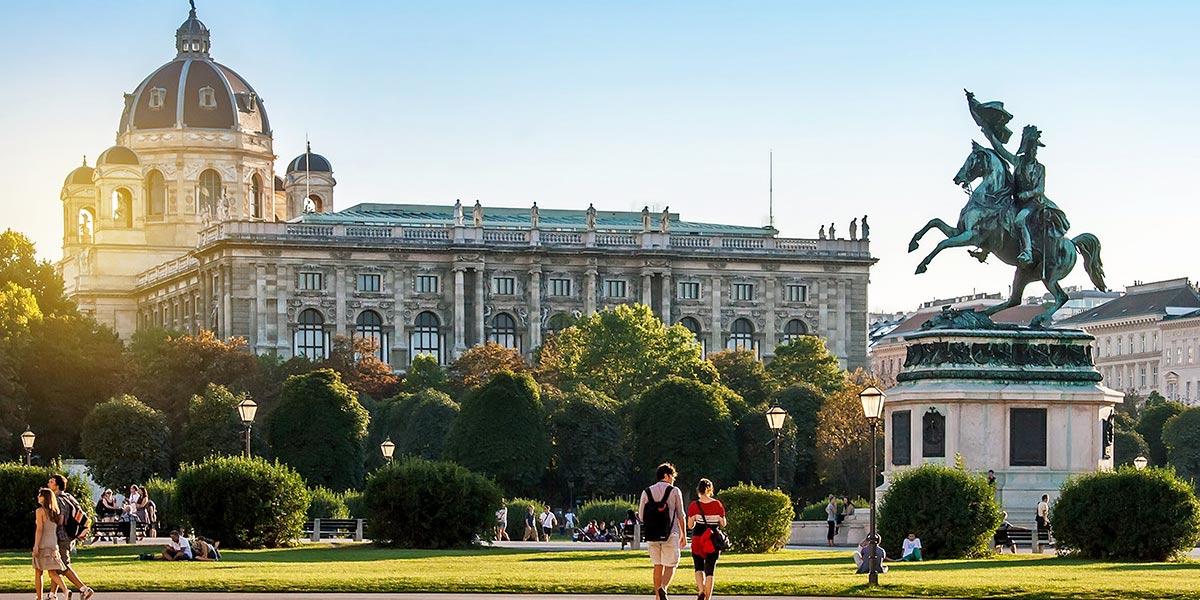 Heldenplatz in Vienna, Austria