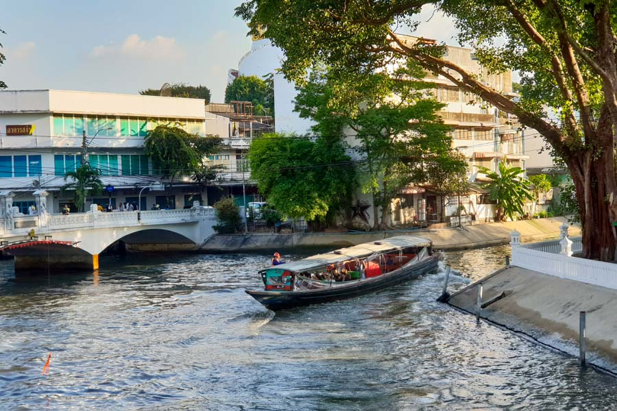 Canal boats in central Bangkok
