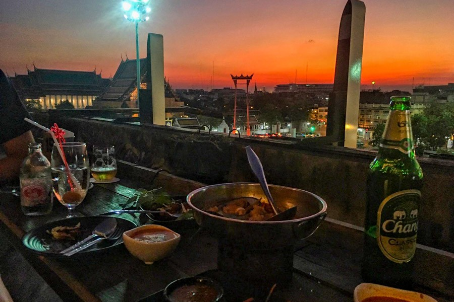 Dinner with a view of Bangkok
