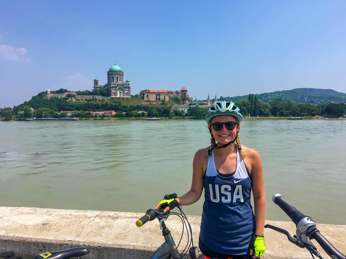 Cyclist in Esztergom