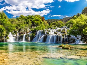 Krka national park, Skradinski buk waterfall, Croatia