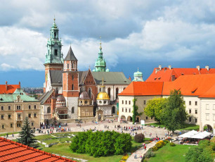 Krakow square, Poland