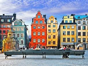 Buildings in Stockholm, Sweden