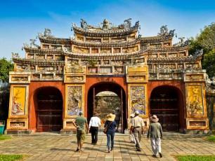 Hien Lam Gate in Hue, Vietnam