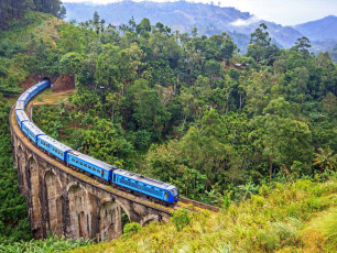 Family Sri Lanka - Nine Arch Bridge with Train, Ella