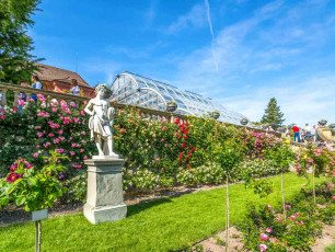 Statue and Garden at Mainau Island, Lake Constance