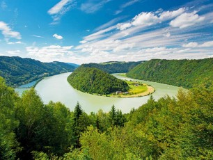 Danube bend, Donauschlinge, Schlogen, Austria