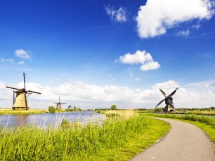 Kinderdik Bike Path, Holland