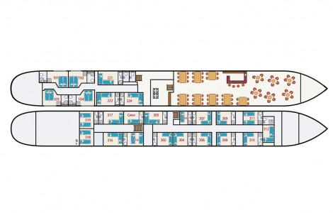 MS Fluvius - Deckplan