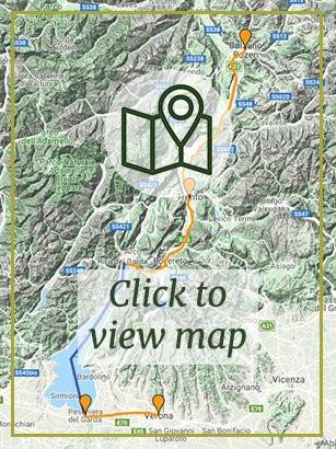 Bolzano to Verona map