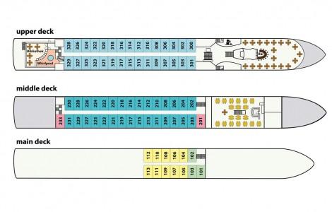 MS Carissima - Deckplan