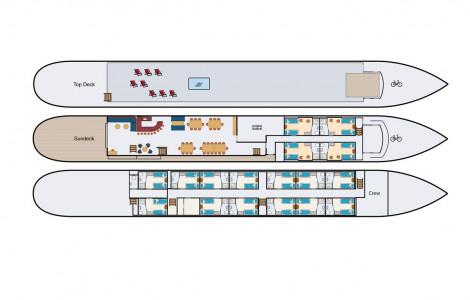 Magnifique II - Deckplan