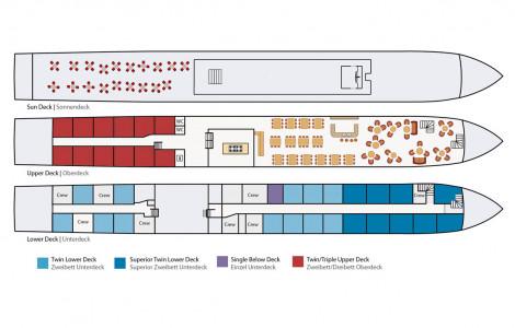 De Nassau - Deckplan